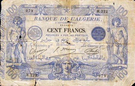 Billet 100 f  en 1911 (recto)
