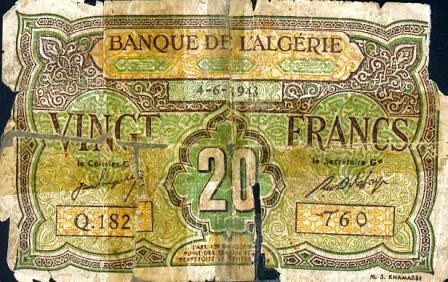 Billet 20 f  1948 (recto)