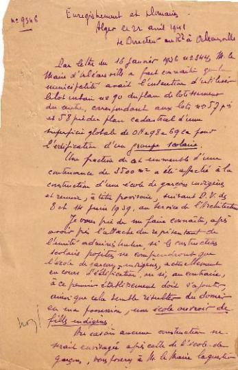 Correspondance (avril 1941)