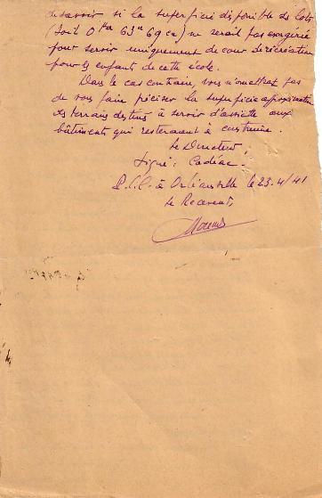 Correspondance avril 1941 (suite)