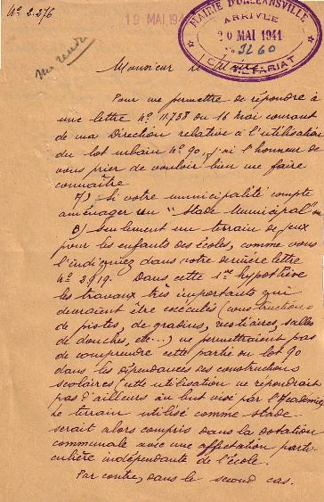 Lettre administrative (1941)