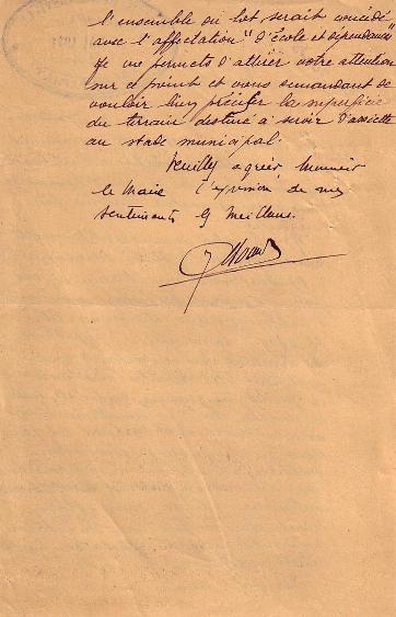 Lettre administrative 1941 (suite)