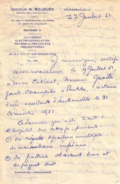 Certificat médical Dr. Bouguès (A)