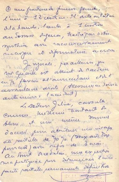 Certificat médical Dr. Bouguès (B)