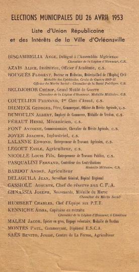 Elections municipales (1953)