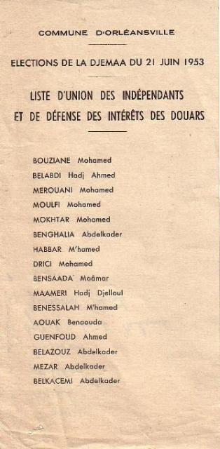 Elections de la Djemaa (1953)
