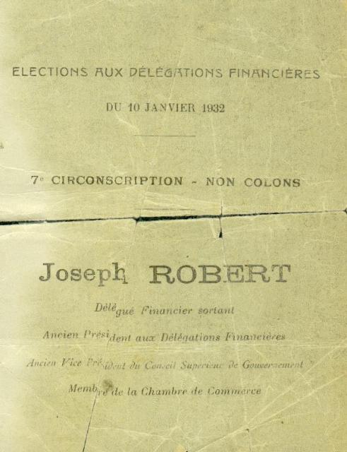 Elections aux délégations financières (1932)