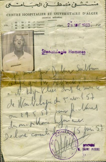Certificat médical  (1963)